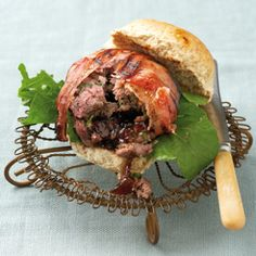 Burger Recipes, Meat Recipes, Game Recipes, Pickled Fish Recipe, Ostrich Meat, Balsamic Onions, Sweet Potato Chips, Chicken Livers, Bacon Wrapped