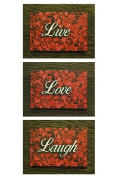 """Each piece is handcrafted using traditional texturing techniques applied in multiple layers over the picture. Every piece is individually produced enhancing its one of a kind uniqueness while creating an overall vintage appearance. Relatively lightweight with a sawtooth hanger"""" on the back side making it easy to hang. Perfect for any home! The pictures are raised from the red oak backboard giving it a 3D look.   Each Back Board Measures approx.12 X 16 Each picture measures 8 X 12   They can…"""