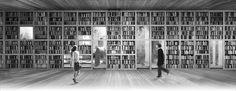 Project of a library. Church in Wroclaw, Poland. Competition entry. Nowe Zerniki estate. Third prize. Authors: OVO Grabczewscy Architekci Marta Lata Dobrochna Lata Mateusz Pietryga Łukasz Migała