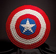 Life-Size Avengers Weapons (and a Shield) Assembled out of LEGO