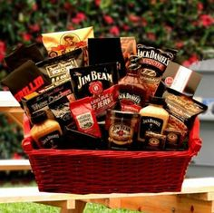 Jack Daniels and Jim Beam Gourmet Gift Basket -Great Gift Idea for Men Two true classics together at last. Jim Beam and Jack Daniels have teamed up in this Holiday Gift Baskets, Gift Baskets For Men, Gourmet Gift Baskets, Gourmet Gifts, Food Baskets, Regalos Jack Daniels, Jack Daniels Gifts, Bbq Gifts, Grilling Gifts