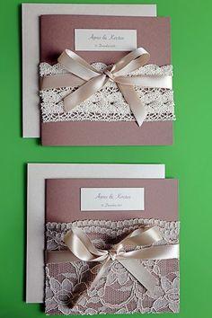 Sachen die glücklich machen: DIY, selbstgemachte Hochzeitseinladungen (Vintage,...