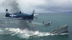 ww2 fighter planes | Grumman Hellcat, Fighter, Grumman, Hellcat, Navy, War, WW2