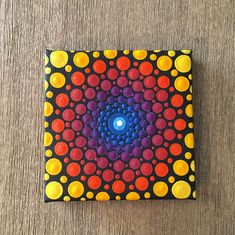 Mini canvas painting - Small canvas painting - Acrylic painting - Mandala art - Dot art