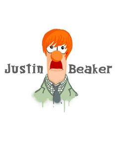 Justin Beaker! I think you have to be over 30 to get just how cute this is!! #Beiber #Boys