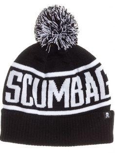 """""""Scumbag"""" Pom Hat by Sourpuss Clothing (Black) #inked #inkedshop #inkedmagazine…"""