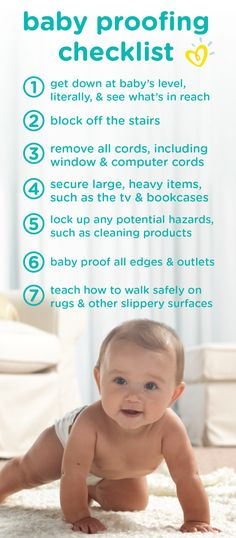 From the stairway to your kitchen cabinets, it may feel like there are so many things to babyproof before you bring your little one home. By keeping this checklist on hand, you can learn how to keep your baby safe and protected. The Babys, Kids And Parenting, Parenting Hacks, Parenting Courses, Trauma, Tv Bookcase, Diaper Bag, Baby Kids, Baby Boy
