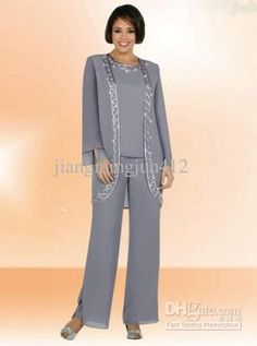 Wholesale New Arrival Elegant Chiffon Mothers of Bride & Guests Pant Suit, $126.3/Piece | DHgate Mobile