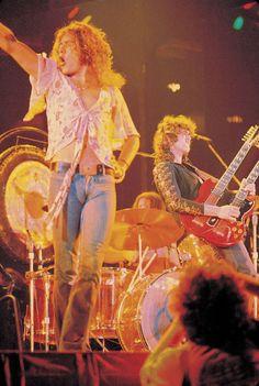 Robert Plant, Jimmy Page & John Bonham's forehead & drum kit of led Zeppelin