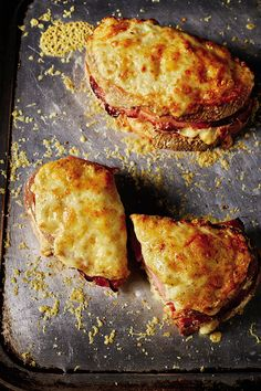 Rick Stein's Ultimate French Croque Monsieur Recipe The type of cheese and ham toastie served up in motorway service stations as a croque monsieur I would simply class as a stomach filler. This, on the other hand, is a pleasure – from the c Rick Stein, Delicious Sandwiches, Wrap Sandwiches, Types Of Sandwiches, Ham And Cheese Toastie, Cheese On Toast, Cheese Toasties, Egg Recipes, Cooking Recipes