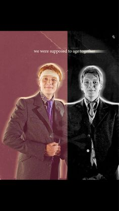 George and Fred Weasley. :'( ~ Harry Potter and the Deathly Hallows Saga Harry Potter, Harry Potter Jokes, Harry Potter Universal, Harry Potter World, Fred Y George Weasley, Fred Weasley Death, Percy Jackson, Oliver Phelps, Weasley Twins