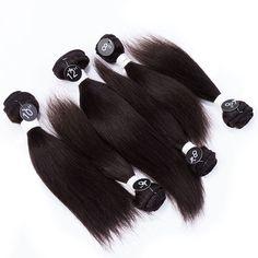 Evet 6 pcs Set pour tête pleine de cheveux produits soyeuse droite brésilienne de cheveux 7a non transformés vierge tisse les cheveux # 2 # 4