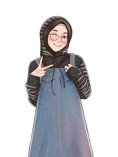 Muslim Fashion, Hijab Fashion, Girl Fashion, Hijabi Girl, Girl Hijab, Cartoon Girl Images, Girl Cartoon, Muslim Girls, Muslim Women