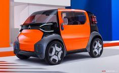 , Citroën Unveils 'Ami One' City Car Concept , www. Citroen Ds, Psa Peugeot Citroen, Toyota Century, Electric Car Concept, Electric Cars, Nissan Titan, Citroen Concept, Concept Cars, Ferrari 488