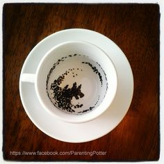 ''My dear, you have the Grim'' ornament. for my Harry Potter tree... mini tea cup painted with ceramic paint....