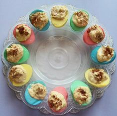 Pastel Deviled Eggs- Super easy directions on how to make this fun Easter appetizer!