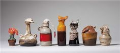 Browse and bid on the auction of Urns (Seven Works) by Francis Upritchard (B. Ceramic Techniques, Creative Skills, Urn, Sculpture Art, Pots, It Works, Art Ideas, Artists, Ceramics