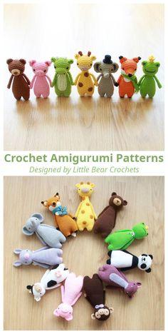Amigurumi patterns by Little Bear Crochets Crochet Dolls Free Patterns, Amigurumi Patterns, Crochet Stitches, Knitting Patterns, Crochet Crafts, Crochet Projects, Crochet Baby, Knit Crochet, Crochet Christmas Gifts