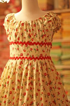 Olabelhe Olivia- lovely in a cotton lawn  with satin ribbon or vintage lace instead of rickrack