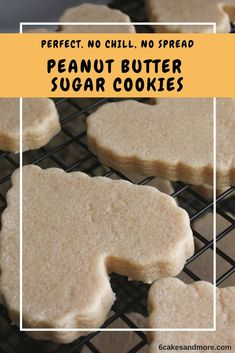 These Perfect Peanut Butter Sugar Cookies are simply amazing! This is another no chill, no spread recipe so they are super simple and taste like the good old fashioned peanut butter cookies. Cut Out Cookie Recipe, Cut Out Cookies, No Bake Cookies, Cookies Et Biscuits, Yummy Cookies, Cake Cookies, Heart Cookies, Cupcakes, Butter Cookie Cutout Recipe