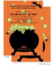 Caldron Bubble Orange Invitation