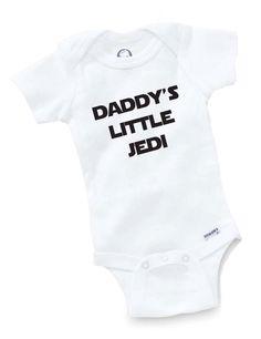 Daddy's Little Jedi Onesie Bodysuit Baby Shower Gift Funny Geek Nerd Cute Sci Fi Fun. $8.99, via Etsy.