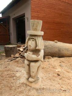 Dřevěná socha na zahradu - 1