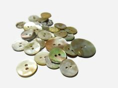 Mother of pearl shell buttons Vintage buttons Sewing buttons Decorative buttons Sewing supplies Diy buttons Craft supplies by Neda Diy Buttons, Vintage Buttons, Selling Handmade Items, Handmade Gifts, Button Crafts, Sewing A Button, Online Gifts, Craft Supplies, Unique Gifts