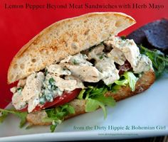 Lemmon Pepper Beyond Chicken Sandwich