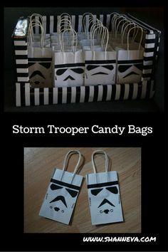 DIY Star Wars Storm Trooper Inspired Party Bags - Shann Eva's Blog