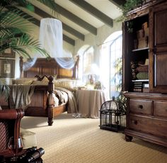 Tommy Bahama style master bedroom