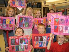 Jamestown Elementary Art Blog: 2nd grade Jim Dine Hearts