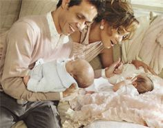 J Lo, Marc Anthony and their twins.