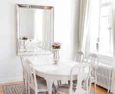 Home & living European Apartment, Provence Style, English House, Home And Living, Mirror, Chair, Dining Rooms, Furniture, Google