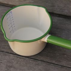 enemalwear | cream and green vintage enamelware sauce pan | Flickr - Photo Sharing!