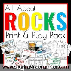 Do you know how much Rocks Rock? Use these ideas and printables to make your unit on rocks, soil, and earth's materials into perfection for little learners. Kindergarten Rocks, Kindergarten Activities, Writing Activities, Kindergarten Teachers, All About Earth, All About Water, Describing Words, Insect Activities, Rock Cycle