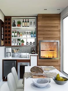 45 Inspiring Mini Bar Design Ideas On Your Apartment Balcony - 2020 Home design Home Bar Essentials, Small Bars For Home, Kitchen Decor, Kitchen Design, Balcony Bar, Balcony Garden, Balkon Design, Mini Bars, Apartment Balconies