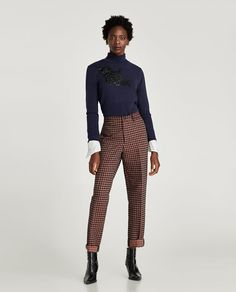 Image 1 of HIGH NECK SWEATER WITH PATCH from Zara