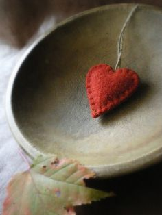 little red felt heart...