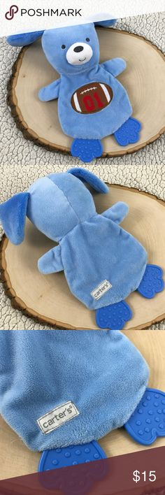 Blue Plush Crinkle Puppy Chewy Football Lovey BRAND        :Carter's SIZE     :One Size STYLE     :Plush Toy COLOR     :Blue MEASUREMENTS :9x7 Condition    :Gently Played Inventory    :SB 6 B1 Carter's Accessories