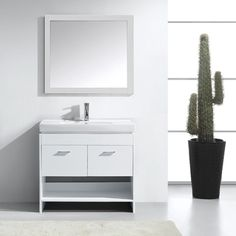 Gloria Single Bathroom Vanity Set with Mirror Small Bathroom Vanities, Single Bathroom Vanity, Towel Display, Vanity Set With Mirror, Hospitality Design, Wood Construction, Luxury Living, Solid Oak, All Modern