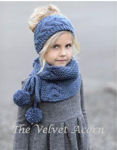 Plumage Set Knitting pattern by The Velvet Acorn Knitting For Kids, Knitting Projects, Baby Knitting, Crochet Projects, Velvet Acorn, Knit Crochet, Crochet Hats, Knitted Hats Kids, Scarf Hat