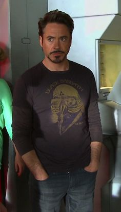 "Robert Downey Jr. behind the scenes, ""The Avengers"" look at that sexy right there."