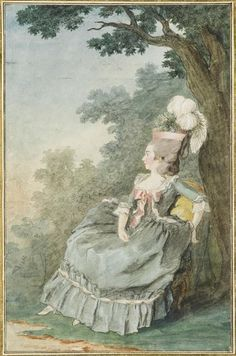 Madame des Mazures, 1770s or early -80s.  Love the big bow in front!