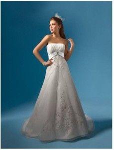 Nowa, Unikalna, Amerykańska Suknia Ślubna Firmy Alfred Angelo, Styl: 2086, Rozmiar 12 (USA), Kolor: Ivory (Kość Słoniowa)/Espresso