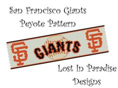 Peyote Bracelet Pattern  San Francisco Giants  by LostInParadise, $6.50