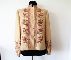 Embroidered blouse Bulgarian embroidery by MillionTreasures