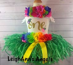 2bed011d354b 1st Birthday Outfit for Luau/First Birthday Luau Outfit/Hawaiian Birthday/ Luau Party/Moana Outfit/Moana birthday /Luau Birthday