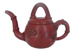 Vintage Hand-crafted Oriental Yixing Clay Teapot - Double Dragons (9 Oz)