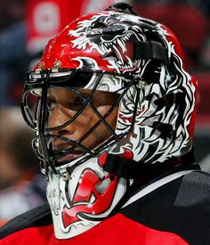 NHL Goalie Masks By Team | Kevin Weekes - New Jersey Devils - NHL Goalie Masks by Team ('08-'09 ...